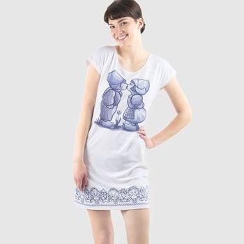 camiseta larga personalizada vestido