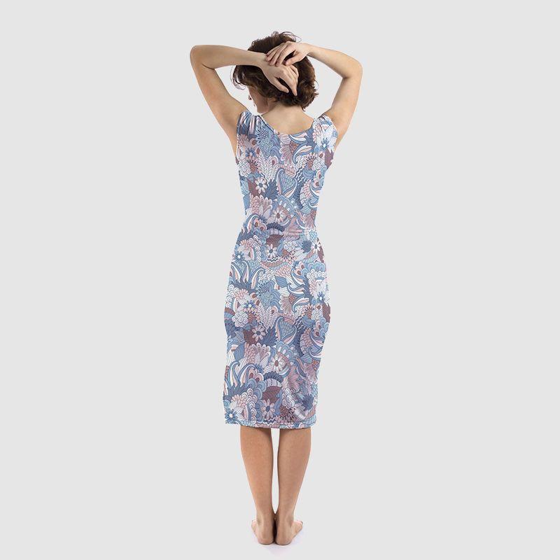 bodycon jurk met ontwerp bedrukken