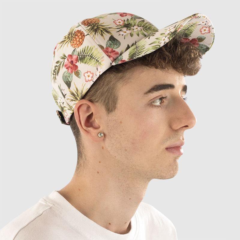 portrait shot of custom designed baseball cap