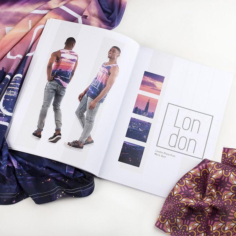 Photo printed look book printing