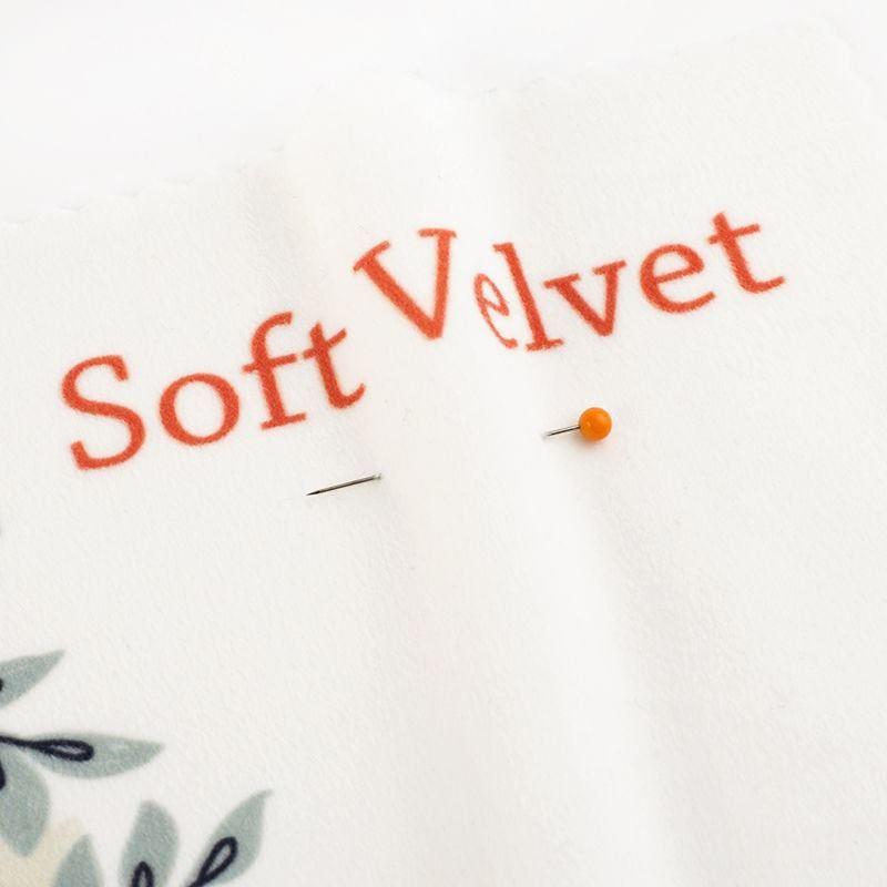 printed soft velvet