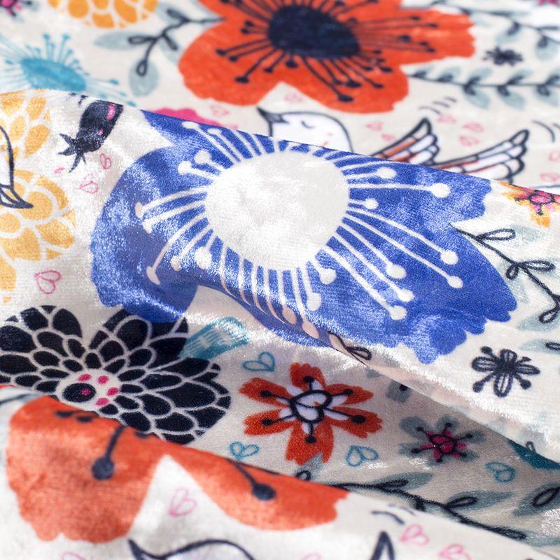 details of marbled velvet fabric