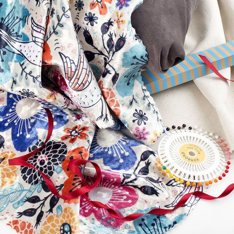 create your own custom printed velvet material UK