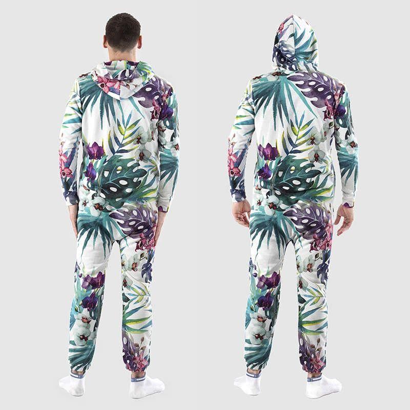 Custom designer onesie with hood back
