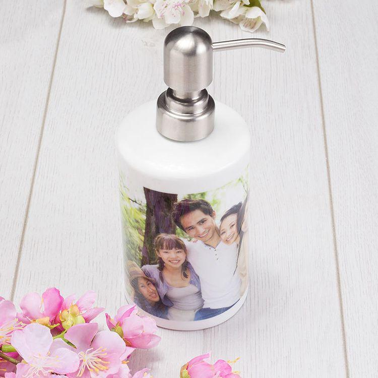 Dispensador personalizada foto familia
