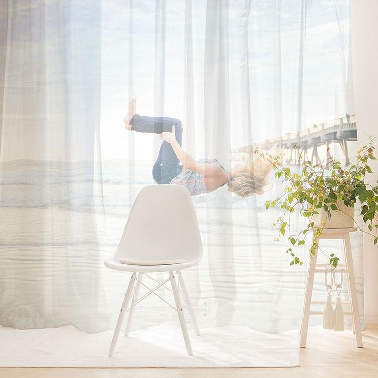 Print custom photo net curtains for home
