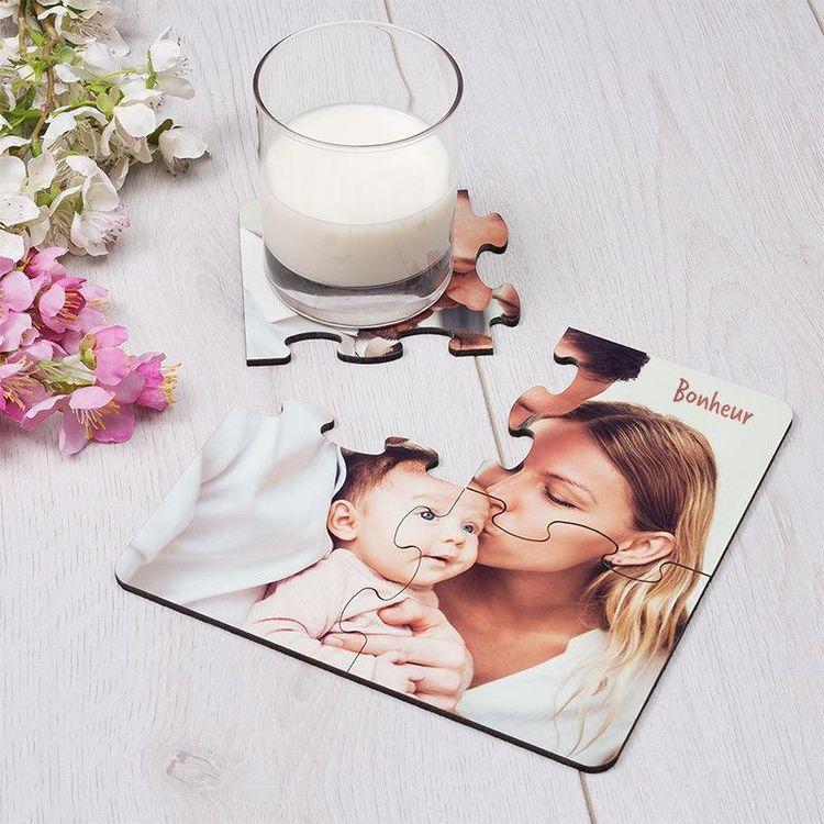 Dessous de verre puzzle maman et enfant