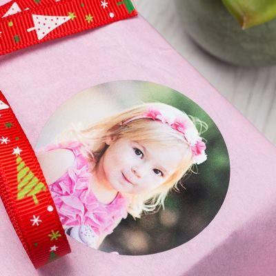 Etiquetas adhesivas con fotos
