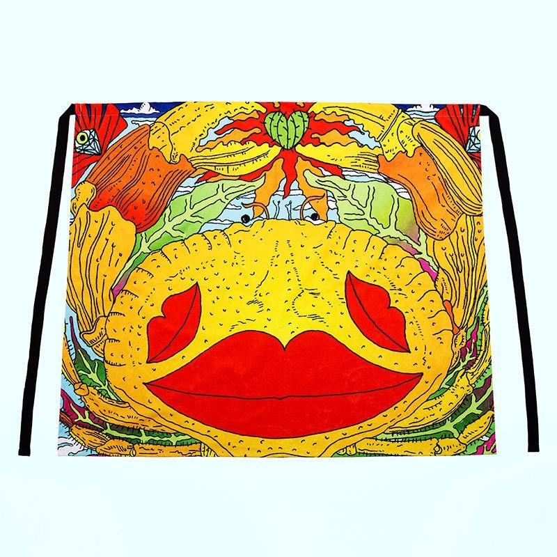 Waist Apron colourful print design