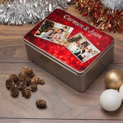 Caja de galletas para navidad