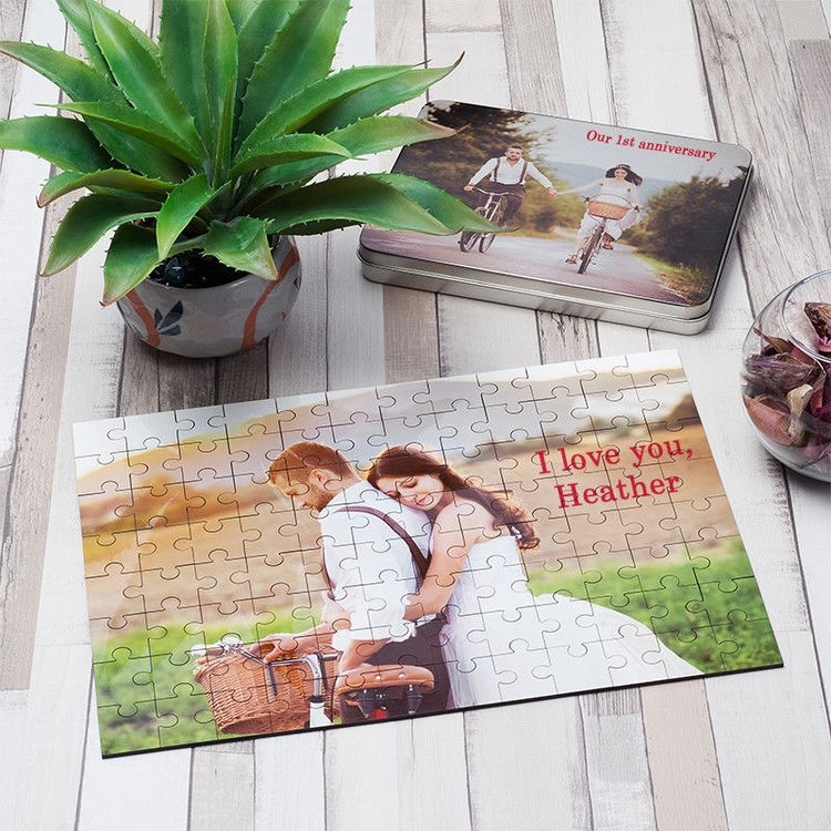 puzzles personnalisés photo style mariage