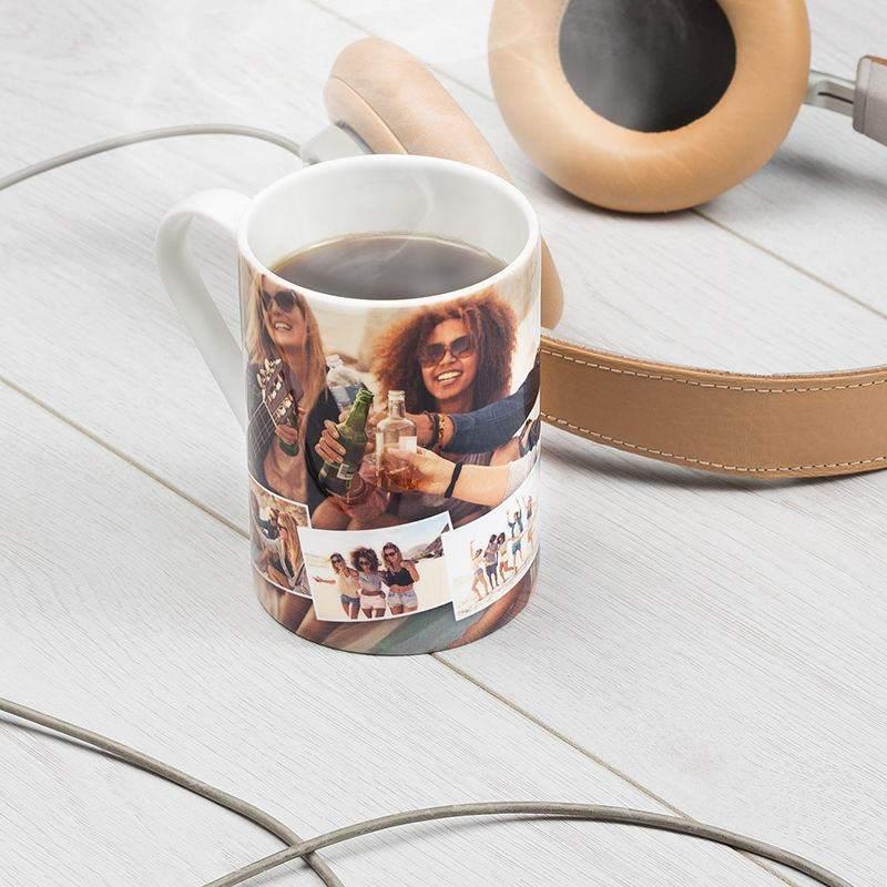 7d544f06546 personalised fine bone china mugs name Custom Printed Mug with design tall china  mug with photo collage ...