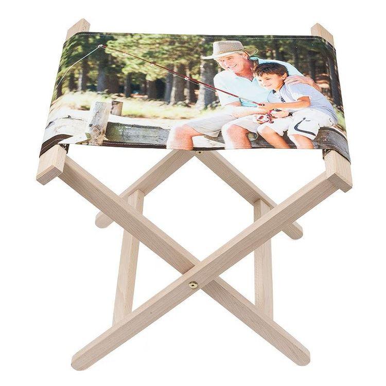 Fällbar campingstol med foto