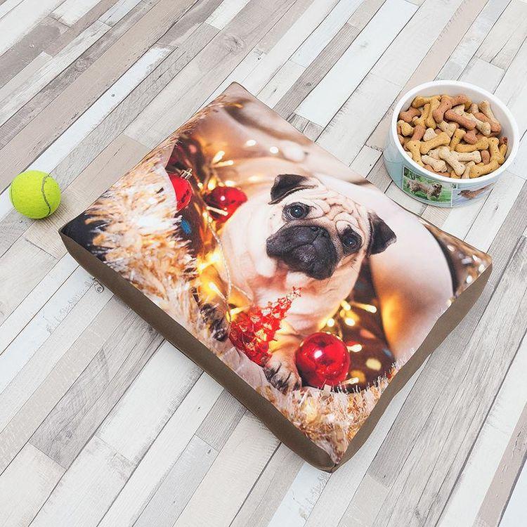 bedrukt hondenbed