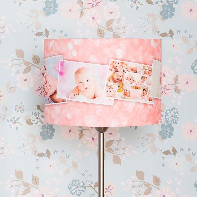 Personlig lampskärm babyfoton