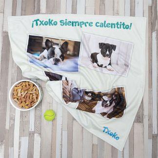 manta de perro regalo de reyes magos personalizable
