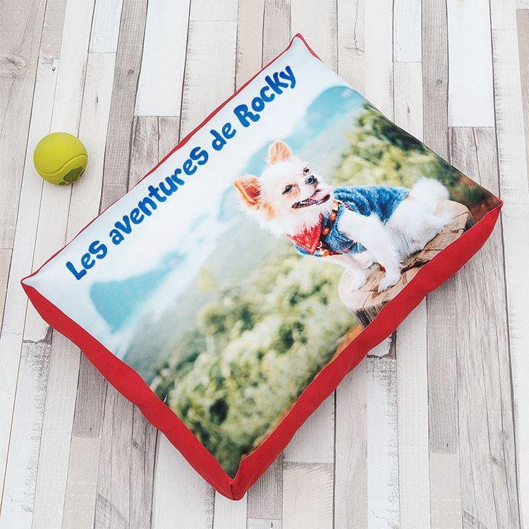 Matelas pour chien personnalisé avec nom et photo