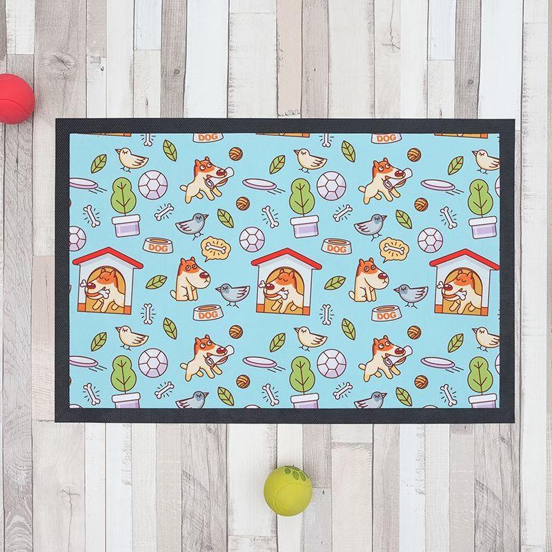 dog food mat printed with cute cartoon designs