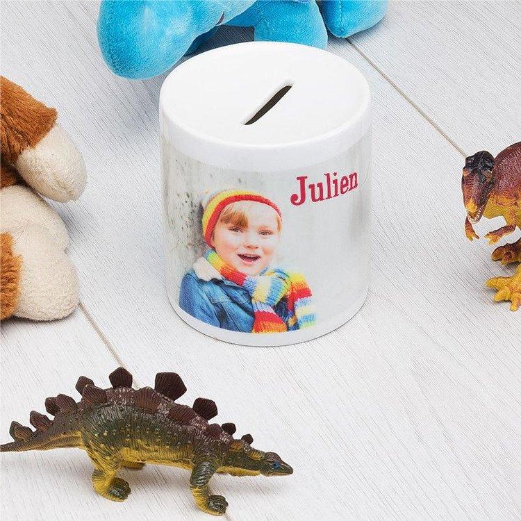 Tirelire personnalisée avec photo enfant