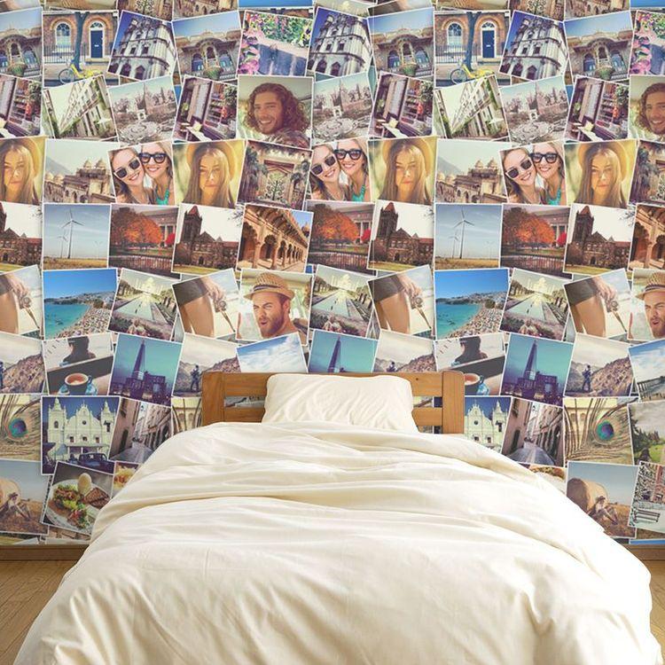 gepersonaliseerd behang met fotocollage