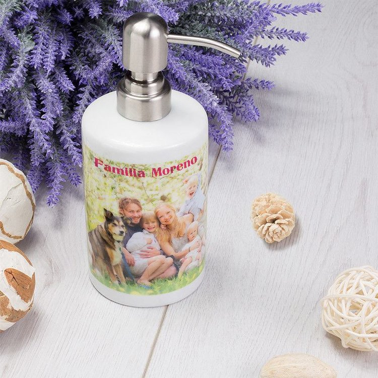 Dispensador de jabón personalizado