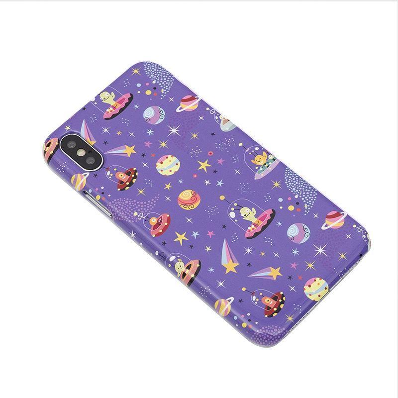Personalized pattern design purple iPhone X