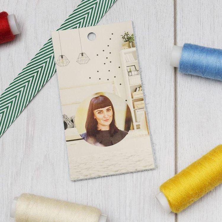 Designer photo swing tags