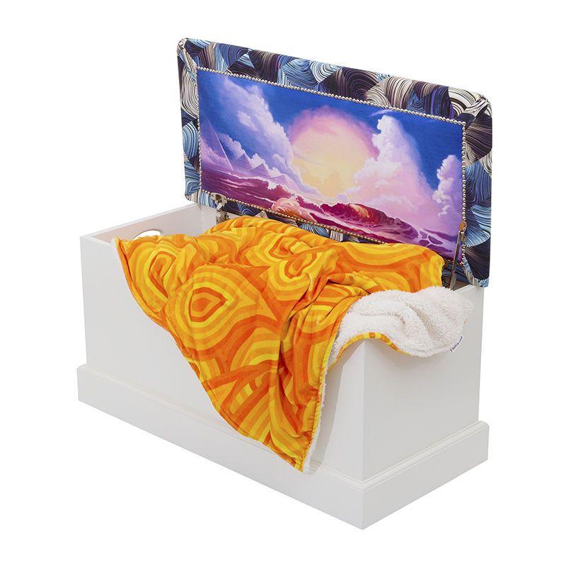 Coffre avec design pour les couvertures