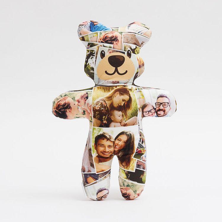 teddybär mit fotocollage