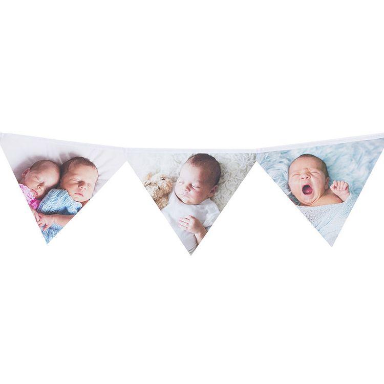 vlaggetjes met babyfoto