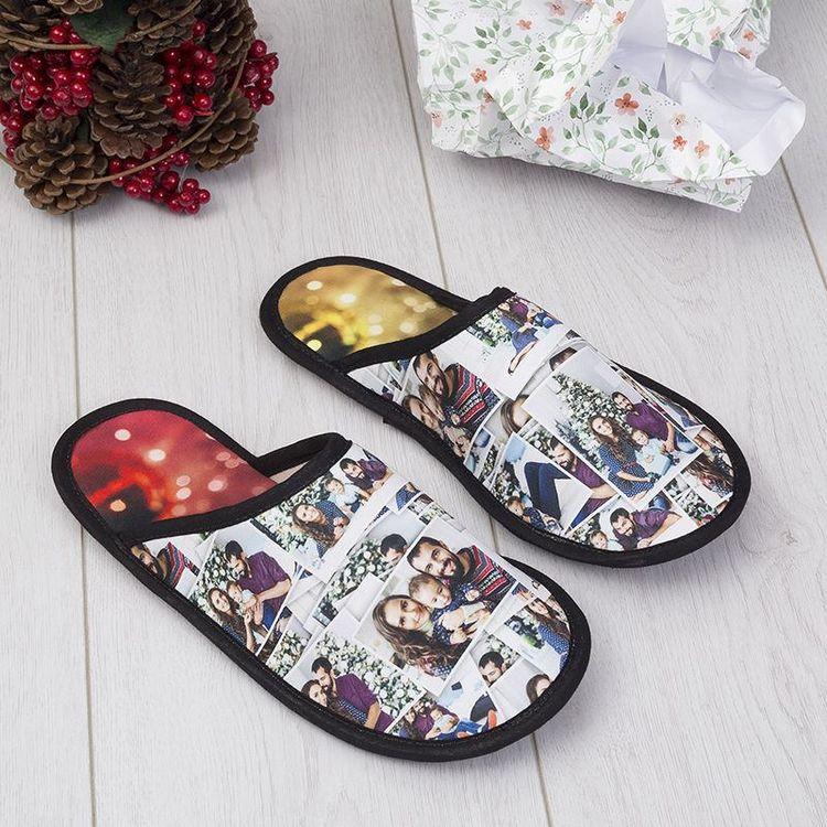 Christmas design photo slippers