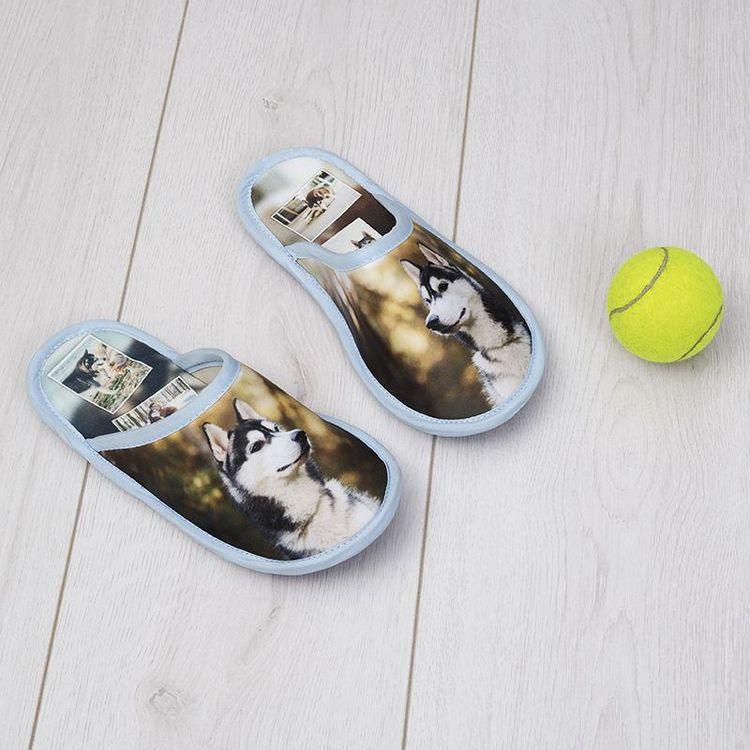 bedrukte foto pantoffels