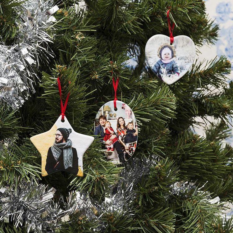 Décoration de Noël personnalisée avec photo