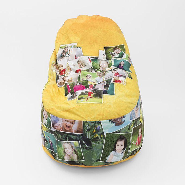 copri pouf personalizzato con foto collage