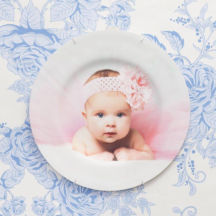 婴儿照片装饰盘