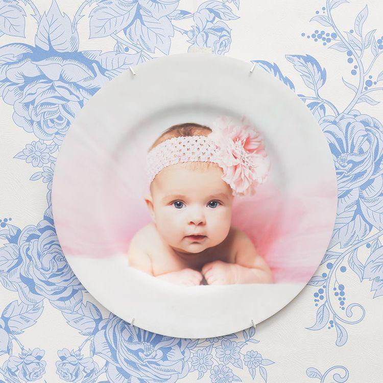decoratief muurbord met babyfoto