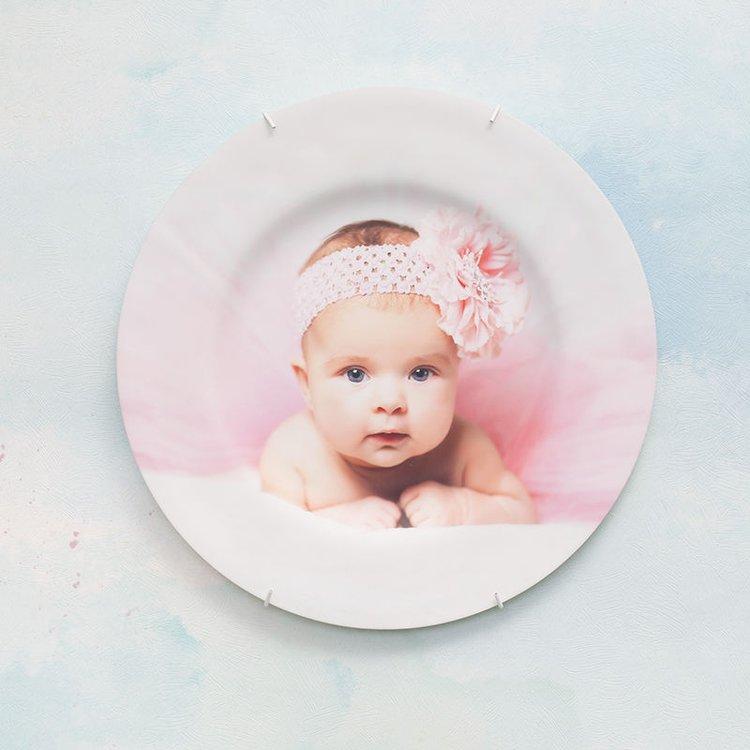 Assiette décorative personnalisée avec photo de bébé