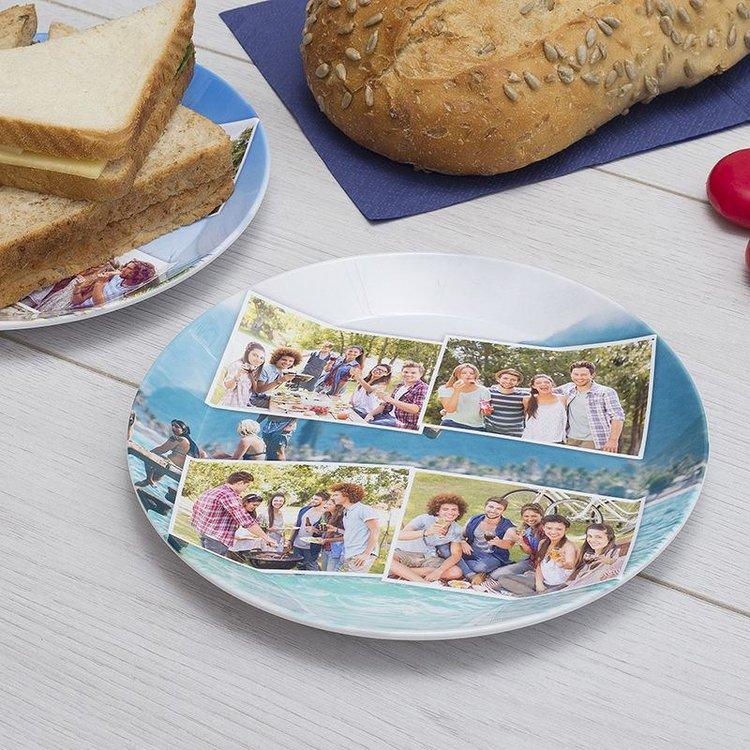 foto collage op plastic bord