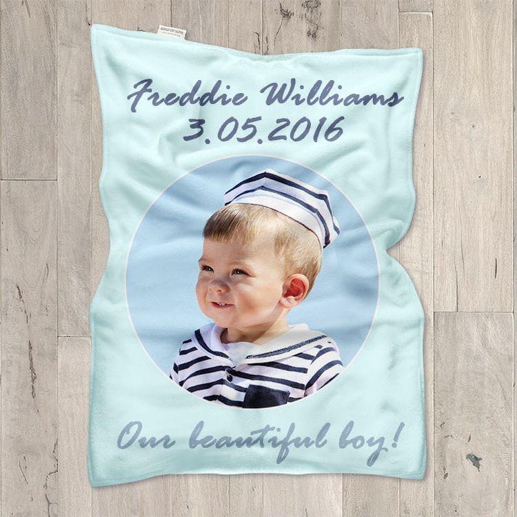 Gepersonaliseerde Baby Dekens voor Doopfeest