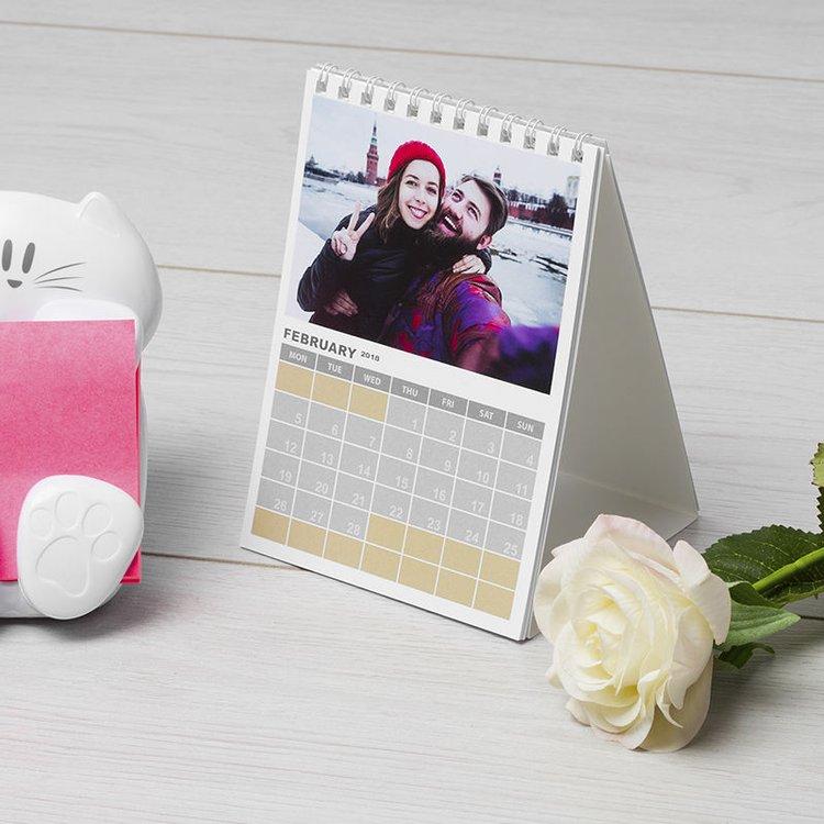 Calendrier personnalisable avec photo de couple