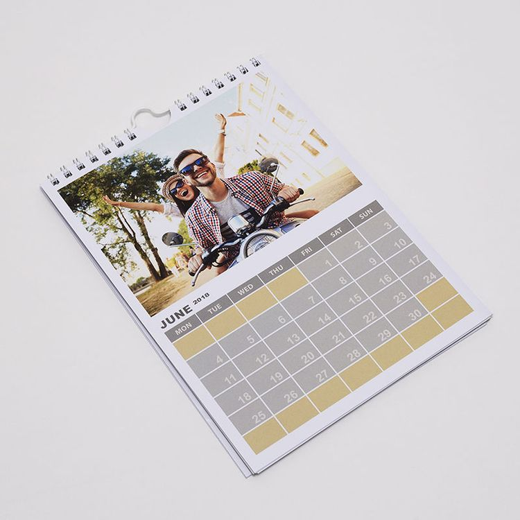 Calendrier A3 personnalisé avec photo de couple