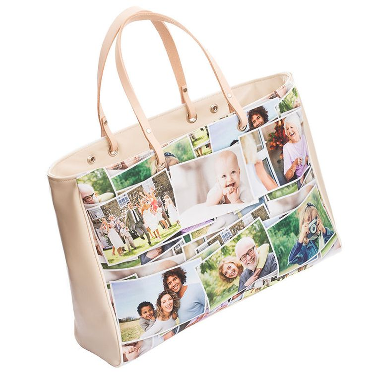 handbag collage design printed to create beautiful gift