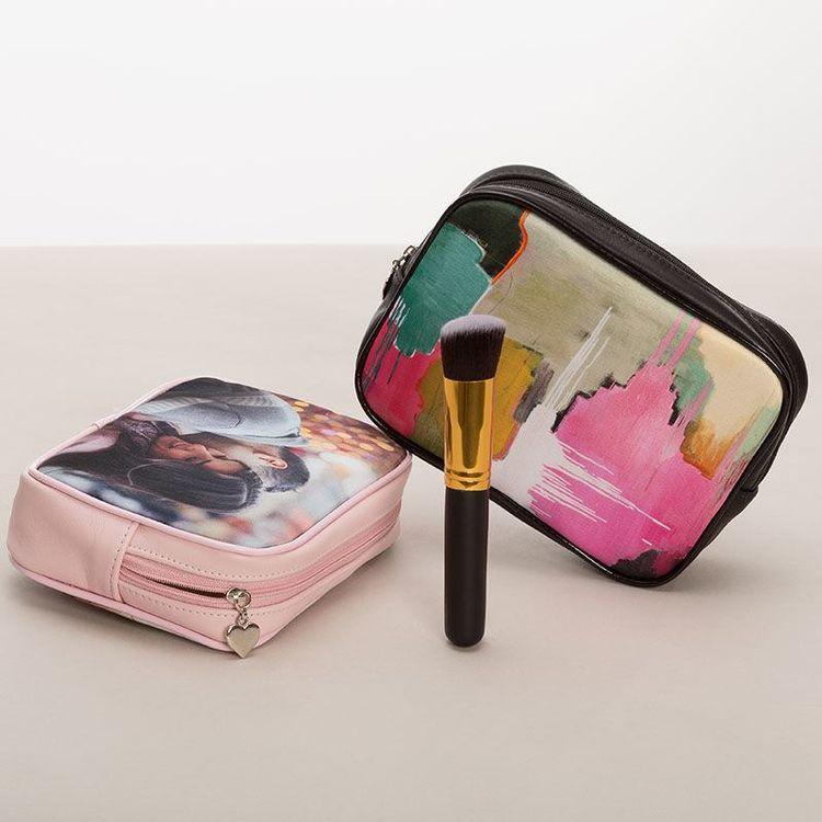 Trousse maquillage personnalisée avec photo et design