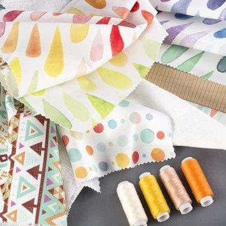 tissu lin impression sur tissu en lin au m tre. Black Bedroom Furniture Sets. Home Design Ideas