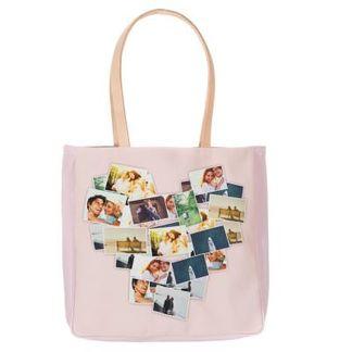 Läder handväska med eget tryck