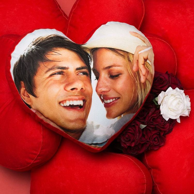valentijnsdag hart foto kussen