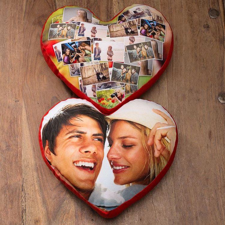 cuscini cuore con foto
