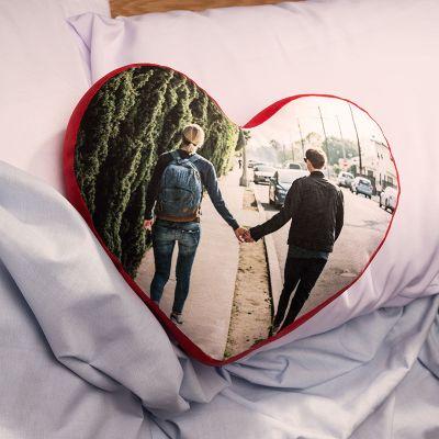 Cojín corazón personalizado con fotos