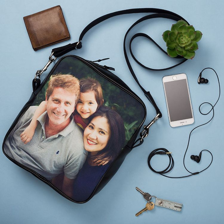 personalised family messenger bag