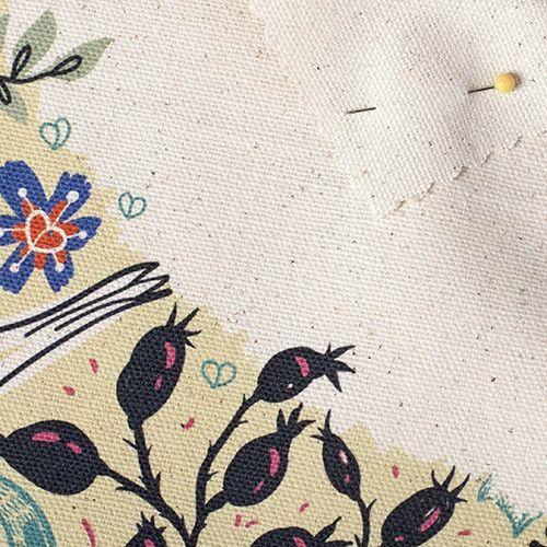 Impression sur coton biologique semi panama